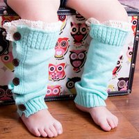 best warm leggings - 2015 Christmas gift children kids leg warmer Toddlers boot socks lace button baby girls winter leggings warm up foot cover high socks best