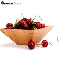 bamboo plates disposable - Square high grade fruit plate fruit candy dish bamboo environmental health snack debris storage disk special utility