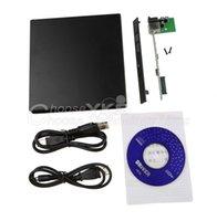Wholesale USB DVD CD DVD Rom SATA External Case Slim For Laptop Notebook Brand New