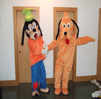 Wholesale Adult Size Plush Goofy Dog and Pluto Dog Mascot Costumes Cartoon Dress EMS