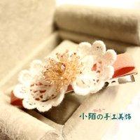 bank hair clips - Small street hair jewelry hairpin side folder Korean Fashion Jewelry Korean head flower duckbill clip hairpin left bank cherry