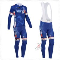 Prezzi Kit e bike-2014 Pro Team maniche lunghe Abbigliamento ciclismo Pro lungo kit set mountain bike pantaloni e vestiti MTB bib Cycling Jersey / bicicletta