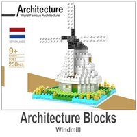 abs architecture - LOZ Architecture Building Block Toy Windmill ABS Material Blocks each Set with Retail Package