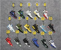 Wholesale Fashion Basketball shoe keyring KeyChain Charm Sneakers Keyrings Keychains Hanging Accessories basketball Sneakers Shoes Key Chain Rings