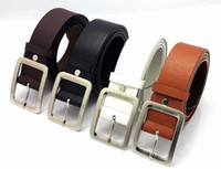 Wholesale Classic simpal pin buckle leather leisure waist belt for men trousers jeans pu leather wide belts strap hot sale