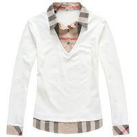 Wholesale 100 cotton autumn women s plus size t shirts brand designer long sleeve t shirts top tees white size M XXL