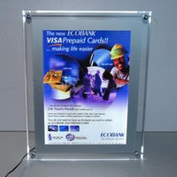 Wholesale LED acrylic panel sign crystal single side A4 light box signage poster clear arylic illuminated display