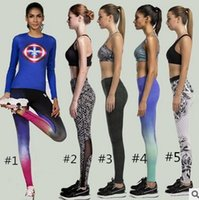 Wholesale DHL FREEWomen Yoga sport Pants new fashion ladies Quick Dry Fitness Running Leggings tights Gym Elastic Fitness Running Sports Trousers