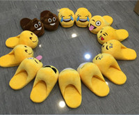 Wholesale Emoji Smiley cotton Slippers cute cartoon Slipper new arrival Novelty slippers via quick ship AAAAAA