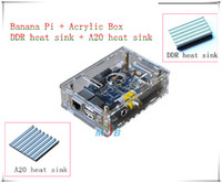 Wholesale Original Banana Pi Acrylic Box heat sink in kit Development Board Dual Core Memorry GB DDR3 Perfect beyond the Raspberry Pi