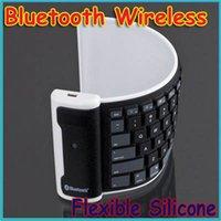 Al por mayor-Reciente Bluetooth Wireless silicón flexible lavable Enrolle teclado