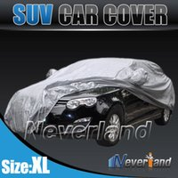 Wholesale 2015 New Outdoor Full Car Cover Waterproof Sun UV Snow Dust Rain Resistant Protection Size XL Car covers Gray C10