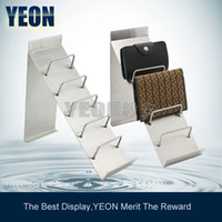 Wholesale YEON metal leather wallet display stand rack purse rack wallet rack shelf mobile Iphone display rack for