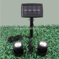 Wholesale Solar panel powered outdoor lighting Solar fountain decorative lights Garden Pool Pond Yard Spot Light SW
