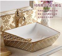 Wholesale Creative diamond ceramic art basin sink basin basin to the stage that wash gargle