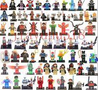 plastic building blocks toys - 600pcs Minifigures For Individually Single Sale Marvel Super Heroes Avengers Batman Building Blocks Model Bricks Toys