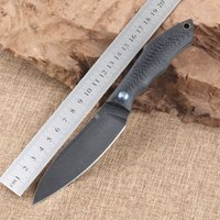 Wholesale Top quality Shirogorov outdoor fixed blade knife camping knife survival knife D2 blade material carbon fiber handle EDC tools