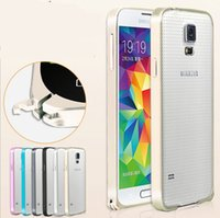 Wholesale Luxury Aluminum Metal Case Hippocampal Buckle mm Aluminium Alloy Frame Hard Bumper For Samsung Galaxy S5 i9600 Note Note3 Note4