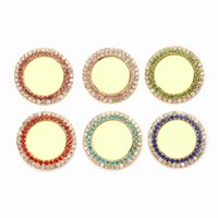 Wholesale Rhinestone Alloy Base Setting mm Inner mm Gold Plated Flatback Bottle Cap Frame Pendant Trays Fit Cameo Cabochon Picture Sticker Jewelry
