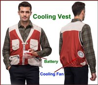 air conditioned vest - Fall year Hot Air condition Clothing Cooling Fishing Hunting Vest Multifunctional Photographer Jacket Multi pocket