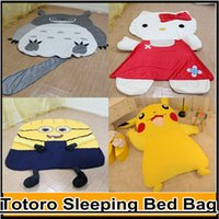 Wholesale Large Cartoon Totoro Sleeping Bed Bag Holster Pikachu Kitty Cushion Cover Despicable Me Minion Sofa Bed Mattress Cover Tatami