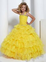 Cheap Strapless Sleeveless Best Organza tulle thick strap Pageant ball g