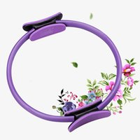 aerobic gymnastics - High Quality women yoga circle magic pilates Double Handle Fiberglass Yoga Circle Aerobic Gymnastics Pilates Ring Yoga Ring