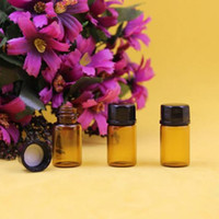 glass bottles - 2015 ml dram Amber Glass Essential Oil Bottle perfume sample tubes Bottles