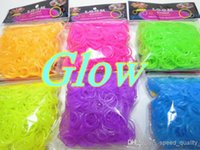 Cheap Glow In The Dark Rainbow Loom Rubber DIY Silicone Luminous Rainbow Loom Bracelet Rubber Bands (300 pcs bands +12 pcs clips)