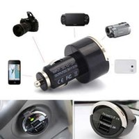 Wholesale Universal Travel mobile phone Charger Adapter for iPhone V A Dual Port Dual USB Car Charger