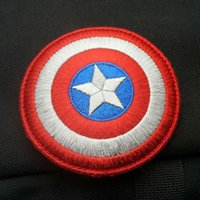 Wholesale Captain America Avengers shield Movie Embroidered LOGO Iron On Patch Emo Goth Punk Rockabilly Customized patch available