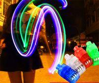 achat en gros de laser conduit doigts-Le plus petit laser Finger Light LED Light Laser Finger Lampe faisceaux Ring Torch Pour Party 4XColors