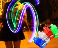 Wholesale The Cheapest Laser Finger Light LED Light Laser Finger Lamp Beams Ring Torch For Party XColors