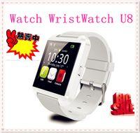 Wholesale Freeship RU US Stock U8 Bluetooth Smart Watch U8 U Watch WristWatch Android Phone Smartphones Wristwatches