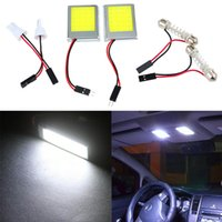 Wholesale 2pcs LED White LED Dome Map Light Bulb For Car Interior Panel Lamp COB V T10