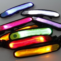 arm wrist bands - LED Gadget Party Supplies LED Arm Band Light Reflective Biking Running Sports Safety Nocturnal Wrist Band Glowing Bracelet LED Toys