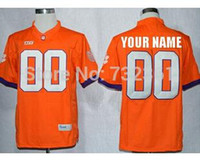 Wholesale Factory Outlet Custom stitched Football Jersey Personalized Clemson Tigers Jersey College Football Jersey Color Blue White Or