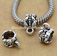 Wholesale Antique Silver Bail beads Spacer Beads x8mm Fit European Charm Bracelet mm B00004