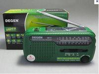 solar radio flashlight - DEGEN DE13 FM AM SW Portable mini Hand Cranking Crank Dynamo Solar Power pocket Emergency Radio world receiver flashlight