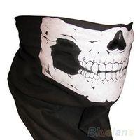 Wholesale Skull Bandana Bike Motorcycle Helmet Neck Face Mask Paintball Ski Sport Headband ED