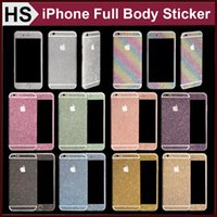 backing powder - Glitter Powder Full Body Sticker For iPhone Plus S Samsung S7 S6 Edge NOTE J5 A7 A8 Front Back Sides Bling Skin Protector