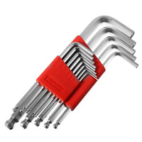 ball hex wrench - High Toughness13pcs set matte chrome ball end hex allen key wrench spanner set inch to inch order lt no track