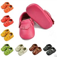 Wholesale Baby genuine leather first walker shoes M boys girls shoes fringe kids children s casual shoes popular design