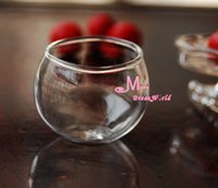 glass fishbowl - Dollhouse Miniature Glass Jar Fishbowl Flower pot Transparent DG42