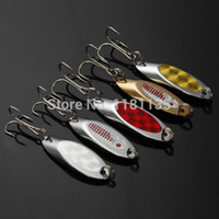 bass fishing kit - Fishing Metal Spoons Lures Treble Hook Tackle Box Kit Spinner Bait Bass g g With Spiral Sequins