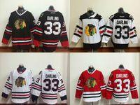 balck white - 2016 New Chicago Blackhawks Scott Darling Hockey Jerseys Home Red White Balck Cheap Scott Darling Stitched Jersey M XXXL