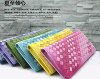 Wholesale 2014 Designer luxury brand Long gradient sheepskin woven together women s Pockets Card Clutch Hand Bag Purse Wallets