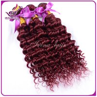 best indian remy hair extensions - Best Quality a Peruvian Deep Curly Wave Hair Burgundy Weaves j Peruvian Virgin Remy Human Hair Extensions Peruvian Deep Curly hair Bundle