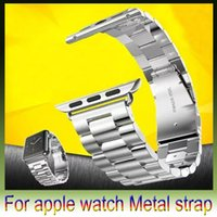 Wholesale Apple watch band mm mm Band Stainless Steel Strap Classic Buckle Adapter Metal Watch Band for Apple Watch Sport retail box