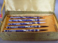 antique pen rack - FREE SHIPPNG antique decorative chinese writing brush holder brush pen rack jade brush Penholder jingdezhen Chinese calligraphy